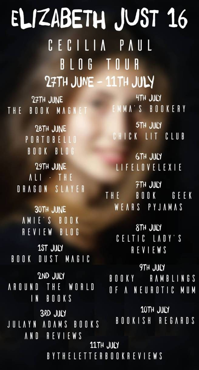 Elizabeth Just 16 Blog Tour Banner