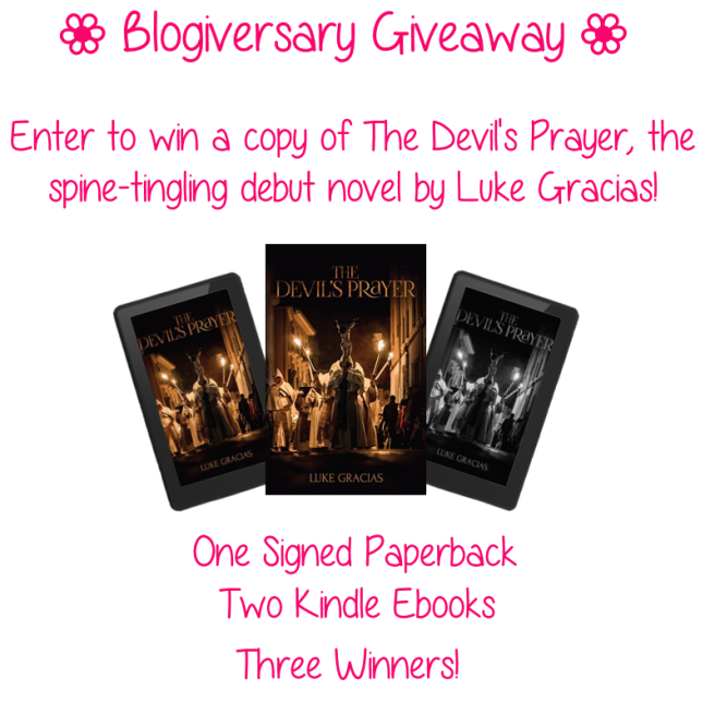 Blogiversary Giveaway - The Devil's Prayer