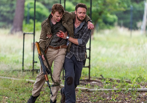 Eric (Jordan Woods-Robinson) and Aaron (Ross Marquand) Photo by Gene Page/AMC