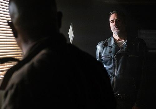 Father Gabriel (Seth Gilliam) and Negan (Jeffrey Dean Morgan) Photo by Gene Page/AMC