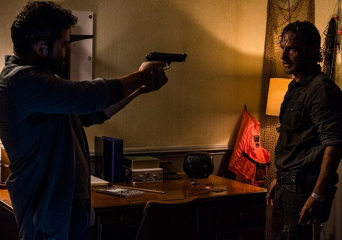 Morales (Juan Gabriel Pareja) and Rick Grimes (Andrew Lincoln) Photo by Gene Page/AMC